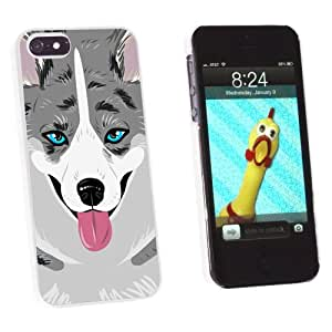 Graphics and More Cardigan Welsh Corgi Blue Merle Dog Pet Snap-On Hard Protective Case for Apple iPhone 5/5s - Non-Retail Packaging - White