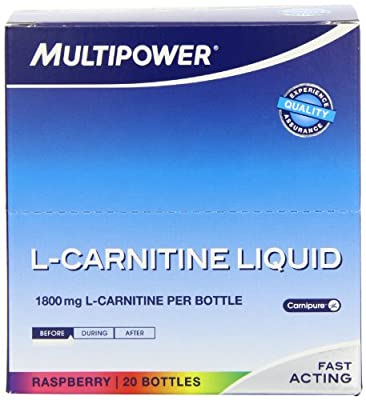Multipower Sportsfood 25ml L-Carnitine Raspberry Liquid Shots - Pack of 20