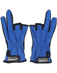 Lelantus 1 par antideslizante 3 y medio dedos cortados deportes al aire libre frente a los guantes de pesca de caza