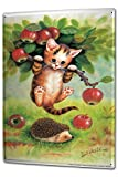Blechschild XXL Katze Rasse Apfelbaum Igel