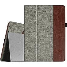 Fintie iPad 4 / 3 / 2 Funda - Folio Slim Smart Case Funda Carcasa con Stand Función y Auto-Sueño / Estela para Apple iPad 2, iPad 3 y el Nuevo iPad 4 Retina, Denim Grey