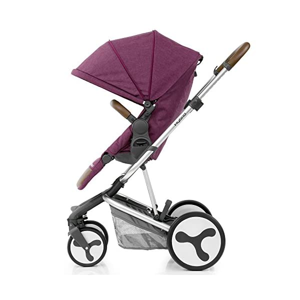 BabyStyle Hybrid Edge Stroller, Wild Orchid Babystyle A truly unique innovative and contemporary designed single stroller Multi-position seat recline with inventive one pull 5-point harness system Removable parent or forward facing seat with bumper bar and matching apron cover 2