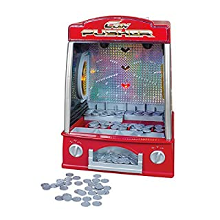 Global Gizmos 50130 Arcade Coin Pusher, Red