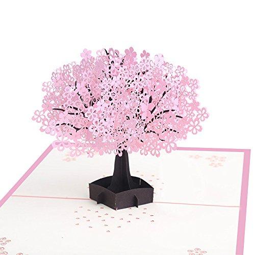 Handmade Pop Up Geburtstag Hochzeit Muttertag danken Karte Cherry Blossom Tree (Fußball-karte Ordner)