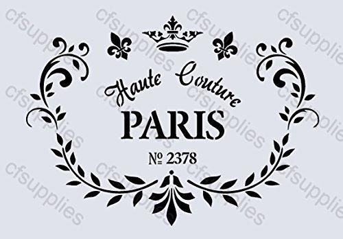 cfsupplies-59-pochoir-shabby-chic-reutilisable-en-mylar-a4-motif-francais
