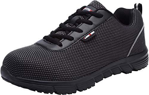 Zapatillas de Seguridad Hombres,LM-30 Zapatos de Trabajo de Cabeza de Acero Transpirable Reflectante...