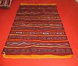 Tappeto Kilim berbero arazzo Etnico Orientale Africano Marocco Originale 100% Lana