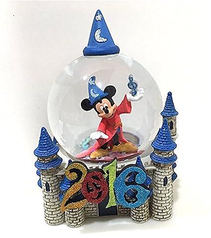 Walt Disney World 2016 Sorcerer Mickey Mouse and Castle Snow Globe Snowglobe NEW by Disney