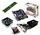 One PC Aufrüstkit | AMD FX-Series Bulldozer FX-4300, 4x 3.80GHz | montiertes Aufrüstset | Mainboard: Gigabyte GA-78LMT-USB3 | 4 GB RAM (1 x 4096 MB DDR3 Speicher 1600 MHz) | CPU Mainboard Bundle | Grafik: 4096 MB NVIDIA GeForce GT 730, DVI, HDMI, VGA | komplett fertig montiert!