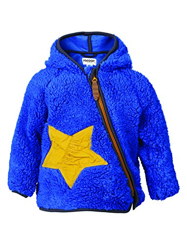 Racoon Baby-Jungen Jacke Viggo Teddy Kuschelfleecejacke, Blau (Dazzling Blue Daz), 86