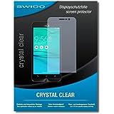 """2 x SWIDO® protecteur d'écran Asus Zenfone Go ZB500KL film protecteur feuille """"CrystalClear"""" invisible"""