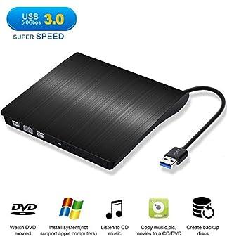 Externes Dvd Laufwerk, Sopoby Usb 3.0 Dvdcd Brenner Für Laptops Und Desktops Notebook Unterstützt Windows Xp2003vista7win8, Mac Os - (Schwarz) 9