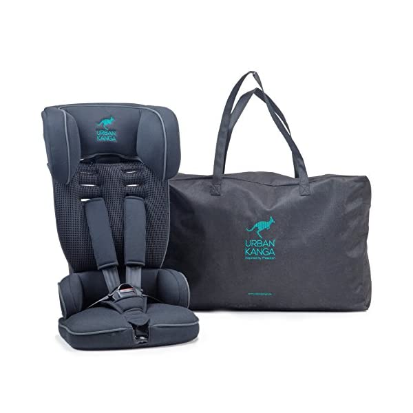 Urban Kanga Uptown Portable and Foldable Travel Car Seat Group 1 | 9-18 Kg (Black)  FOLDABLE PORTABLE TRAVEL CAR SEAT - Universal Group 1. Suitable for children weighing 9-18 Kg. (20 to 40 LB.) SAFE - Tested and certified to meet ECE R44/04 EUROPEAN SAFETY STANDARD LIGHTWEIGHT - Weighs only 3 KG! Fits in most standard suitcases. Carry bag included! 1