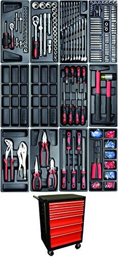 Kraftmann 4073 Werkstattwagen, mit 156 Werkzeugen