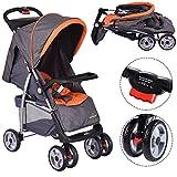 COSTWAY Kinderwagen Babywagen Buggy Kinderbuggy Sportwagen Spazierwagen Reisebuggy Farbwahl klappbar (grau)