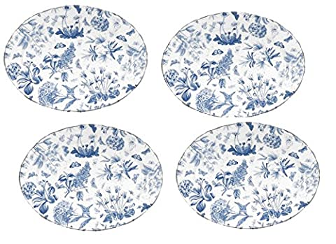 VALUE 4-PACK Portmeirion Botanic Blue Oval 13