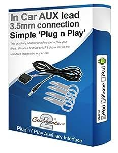 Câble auxiliaire pour iPod, iPhone, lecteur MP3avec boutons pour Ford Fiesta 6006