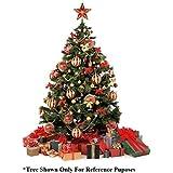 WebelKart 44 Pcs Christmas Tree Decorations Set (Balls, Bells, Gifts, Pine Trees, Stars, Candy Sticks & Santa Claus)