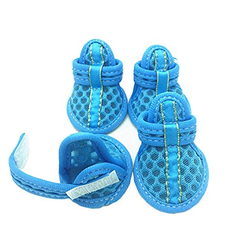 AMURAO rutschfeste beiläufige Hundeschuhe Weiche Sohle Ineinander greifen Sandelholze Sommer Breathable Haustier Nette Süßigkeit färbt Schuhe -