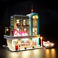 BRIKSMAX Downtown Diner Led Lighting Kit- Compatible with Lego 10260 Building Blocks Model- Not Include The Lego Set