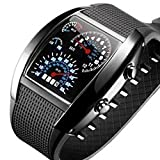 BulkCosts(TM) - Orologio da polso da uomo, con retroilluminazione LED digitale, stile militare, quadrante con misurazioni per lo sport, colore: nero