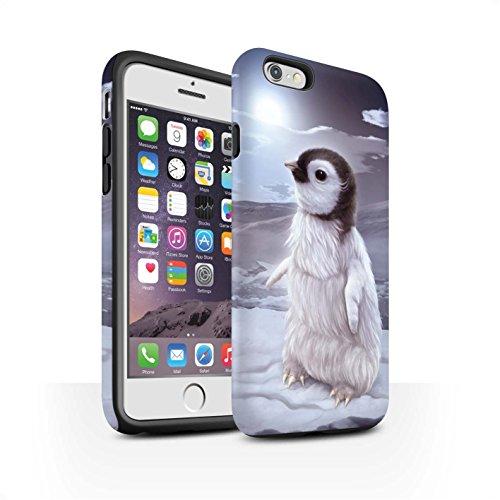 Officiel Elena Dudina Coque / Matte Robuste Antichoc Etui pour Apple iPhone 6 / Loups Blancs Design / Les Animaux Collection Le Voyageur/Manchot