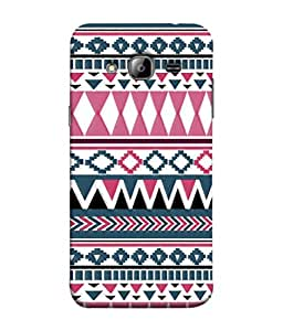PrintVisa Designer Back Case Cover for Samsung Galaxy On7 Pro :: Samsung Galaxy On 7 Pro (2015) (Tribal art design arcs created)