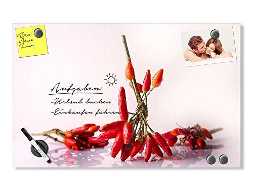 GRAZDesign Magnettafel Glas für Notizen - Magnettafel Küche Chili - Planungstafel für Küche Chilibund - Küchen Magnettafel Querformat / 100x60cm / 501702_100x60_GL_MT