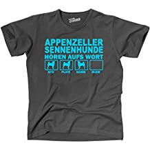 Siviwonder Unisex T-Shirt APPENZELLER SENNENHUNDE HÖREN AUFS WORT fun Hunde Hund
