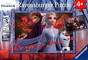 Ravensburger - Puzzle Frozen 2, pack de 2 x 24 Piezas (05010)