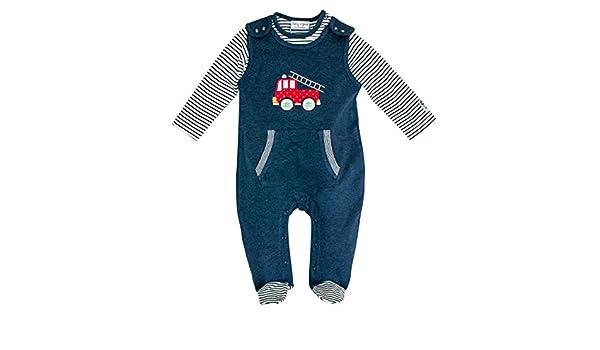 Salt /& Pepper Baby Strampler Overall langarm für Jungen Feuerwehr Baby Glück