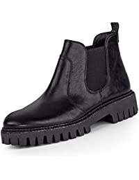 d9117ecc39 Paul Green 9208-001 Damen Boots aus Leder Lederinnenausstattung Robuste  Sohle