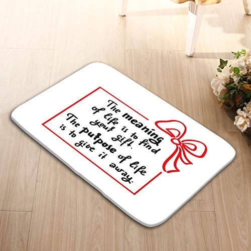zexuandiy Washable Fabric Placemats for Dining Room Kitchen Table Decor Multicolor 24 W X 16 W Inches Meaning Life Simple Inspire motivational Quote Hand d