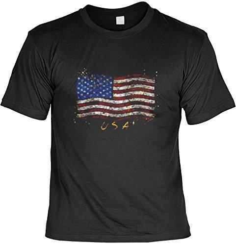 USA Flagge Amerika Motiv T-Shirt :: Stars & Stripes - T-Shirt bedruckt