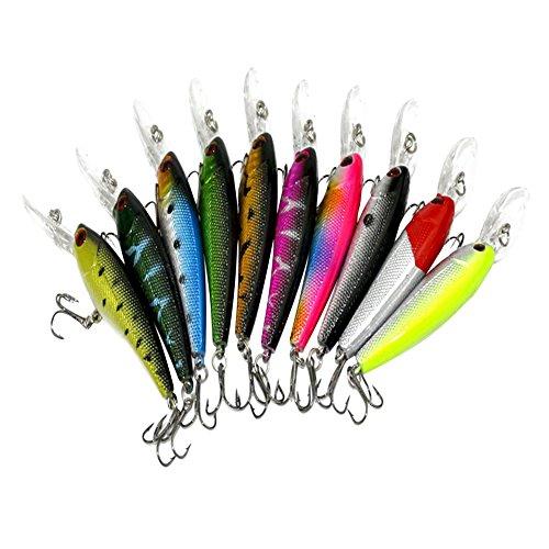 LQZ(TM) 10 x Leurres Flottante Set Kit Appât de Pêche...