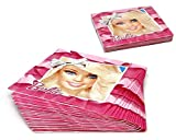 Atosa-Atosa-17151-pack 15 servilletas 33x33cm Barbie, Color