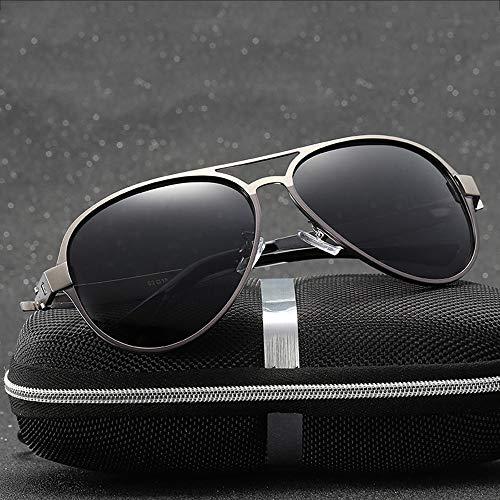 WULE-RYP Polarisierte Sonnenbrille mit UV-Schutz Männer, polarisierte Sonnenbrillen, Federbeine, Angelbrillen. Superleichtes Rahmen-Fischen, das Golf fährt (Farbe : Grau)