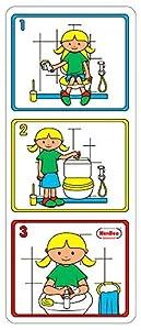 Henbea - Cartel pictórico higiene Aseo niña (819)