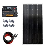 ECOWORTHY 150W 12 V mono Solar starter kit con 20 A Amp LCD regolatore di carica per off-grid RV barca camper