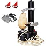 Peeler per patate elettriche KKWLELEL [2 lame extra] - Frutta e verdure rotanti automatici
