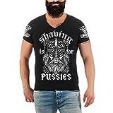 Männer und Herren T-Shirt Wikinger Shaving is for Pussies Größe S - 8XL