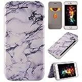 iPhone 7 Plus Handycase, iPhone 8 Plus Hülle, Purple Angel Marmor Hülle 360 Grad Roate Flip Case Schutzhülle Handy Hülle Bookstyle Cover Tasche mit Standfunktion Kartenfach für iPhone 6 Plus/6s Plus 5.5 Zoll-Weiß