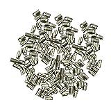 100 Packungen Messingrohr Crimp End Perlen Für Die Schmucksachen Die DIY 7x3.8mm - Silber