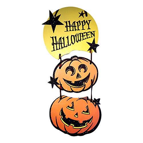 (Westeng 8 Stück Halloween Deko Kürbis Tür Hängende-Schild Horror Kostüm Party Deko Halloween Requisiten für Haus Hotel KTV Spukhaus Bar)