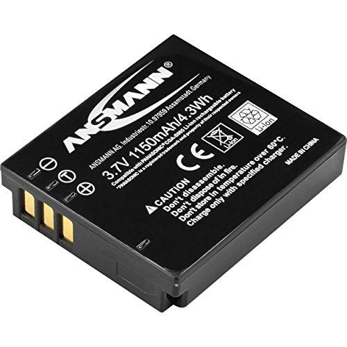 ANSMANN Li-Ion Akku A-Pan CGA S005 3,7V / Typ 1150mAh / Leistungsstarke Akku Batterie für Foto Digitalkameras - perfekter externer Akku für Panasonic Digicam uvm. - Lx Batterie
