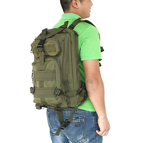Docooler Sport Outdoor Zaino Tattico Militare Zaini Campeggio Escursionismo Trekking Borsa Army Green