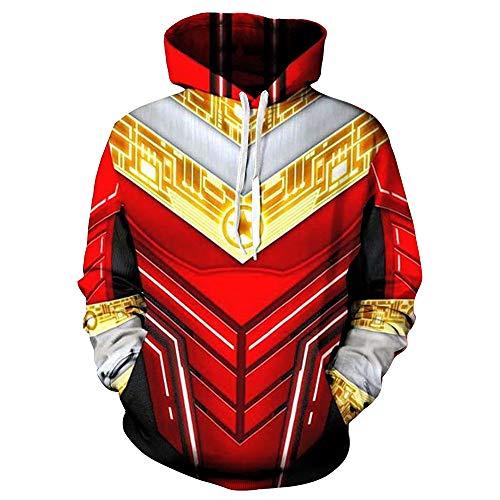 (XJXDWY 3D Sport Hoodie Lässige Pullover Unisex Bewegung Phantasie Kostüm Digitaldruck Power Rangers M)
