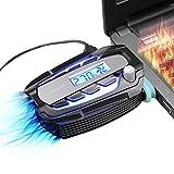 Laptop Kühler Lüfter Fan mit Temperaturanzeige,LED Bildschirm Intelligent Vacuum Fan,Vakuum USB für sofortige Kühlung Notebook Vakuum,Laptop Ventilator Geräuschlos für 14 zu 17 zoll Laptop / Notebook Cooler