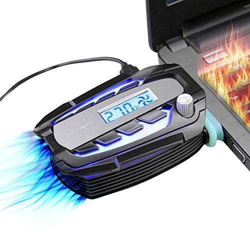 Preisvergleich Produktbild Laptop Kühler Lüfter Fan mit Temperaturanzeige, LED Bildschirm Intelligent Vacuum Fan, Vakuum USB für sofortige Kühlung Notebook Vakuum, Laptop Ventilator Geräuschlos für 14 zu 17 zoll Laptop / Notebook Cooler