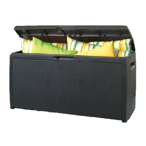 Keter rattan effect storage box parent garden rattan - Coffre jardin keter ...